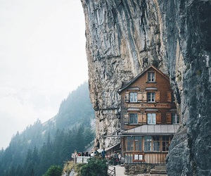 mountains, travel, and house image