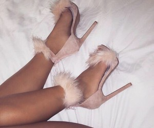 girly, Nude, and pink heels image
