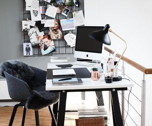 decoration, desk, and office image