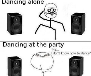 funny, party, and dancing image