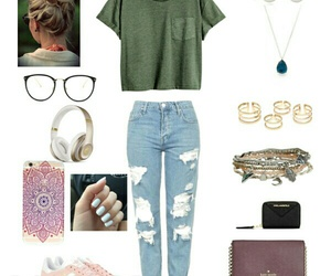 fashion, outfit, and Polyvore image