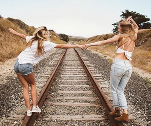 friends, bff, and girl image