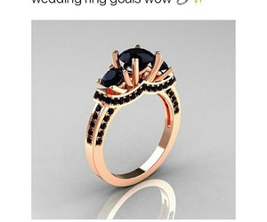 ring, jewelry, and black image