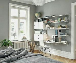 beautiful, bookshelf, and decorate image