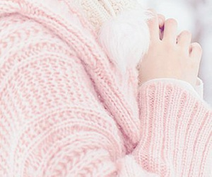 pastel, pink, and winter image
