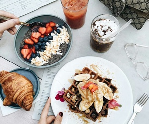 food, breakfast, and drinks image