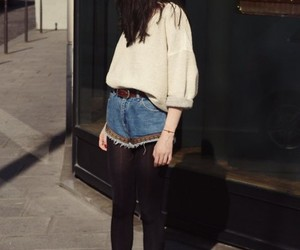 denim shorts, pretty, and street style image