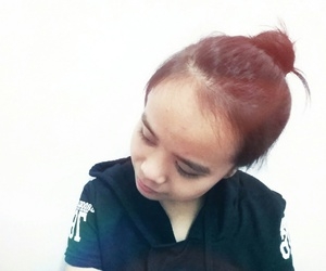 asian, red, and bun image