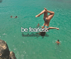 fearless, bucket list, and goals image