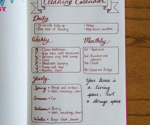 calendar, cleaning, and Habit image