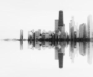 art, city, and white image
