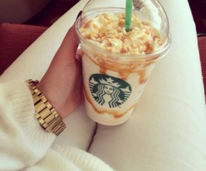 starbucks, white, and frappe image