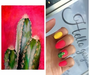 cactus, colores, and nails image