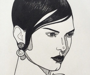 art, cool, and kendall jenner image