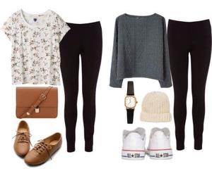 basic, girl, and fashion image