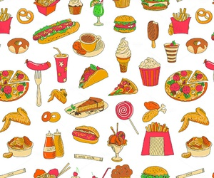 food, pattern, and pizza image