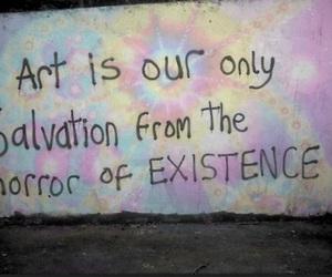 art, beauty, and horror image