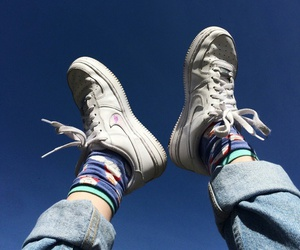 nike, sky, and shoes image