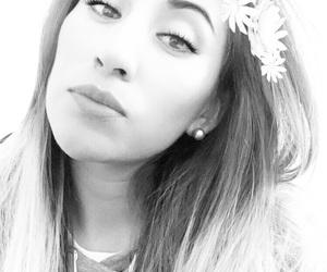 black & white, corona, and face image