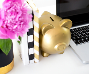 gold, piggy bank, and cute image