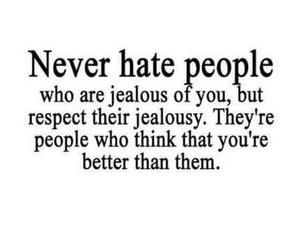 quotes, hate, and jealous image