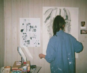 art, grunge, and girl image