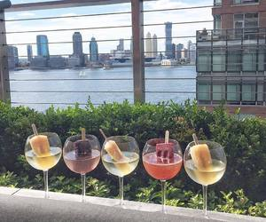 Cocktails, hudson river, and new york city image