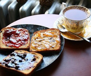 food, breakfast, and tea image