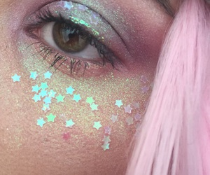 pink, glitter, and stars image