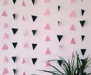 decor, plant, and triangles image