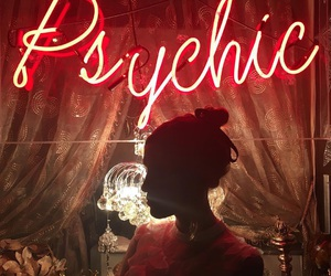 alexa chung, neon, and psychic image