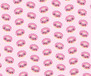 donut, pattern, and wallpaper image