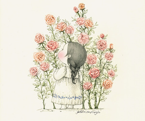 coniglio, girl, and roses image