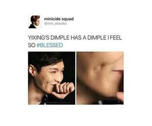 dimple, dimples, and exo image
