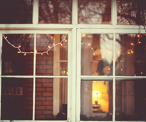 light, window, and christmas image