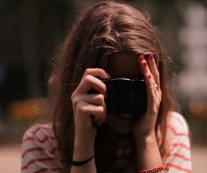girl, boy, and camera image