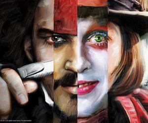 johnny depp, art, and jack sparrow image