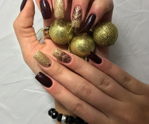 nails, nailart, and christmasnails image