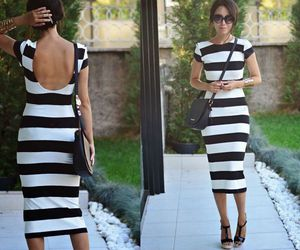 deal, striped dress, and dresses image