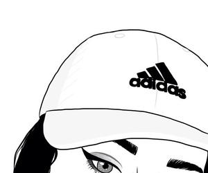 adidas, drawing, and artlines image