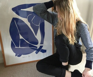 art, girl, and pale image