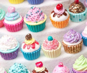 cupcake, sweet, and colors image