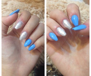 blue, nails, and new image