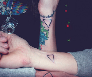 tattoo, triangle, and hipster image