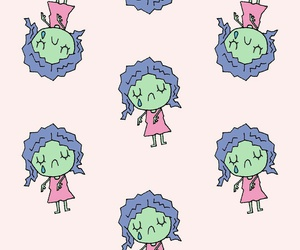 pastel, pattern, and zombie image
