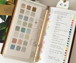 art, colors, and diary image