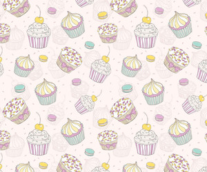 cupcake, desert, and patterns image