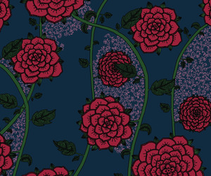 flowers, patterns, and roses image