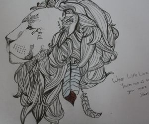 drawing, lion, and mumford & sons image