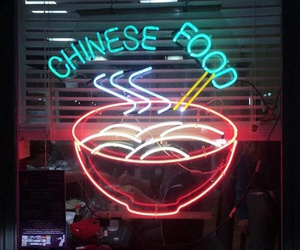 food, chinese, and glow image